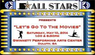 "ALL STARS Performing Arts -  ""Let's Go to the Movies!"" tickets at Gwinnett Performing Arts Center in Duluth"