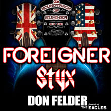 Foreigner / Styx tickets at Fiddler's Green Amphitheatre in Englewood