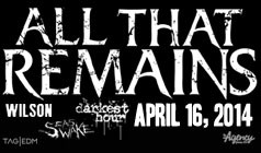 All That Remains tickets at Starland Ballroom in Sayreville