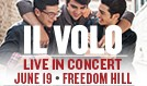 Il Volo tickets at Freedom Hill Amphitheatre in Sterling Heights