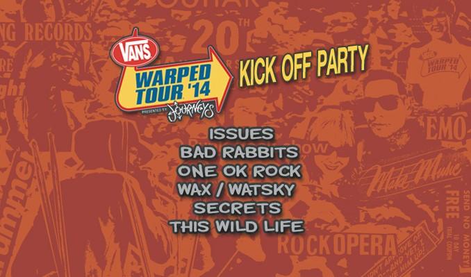 Vans Warped Tour 2014 Kick-Off Party