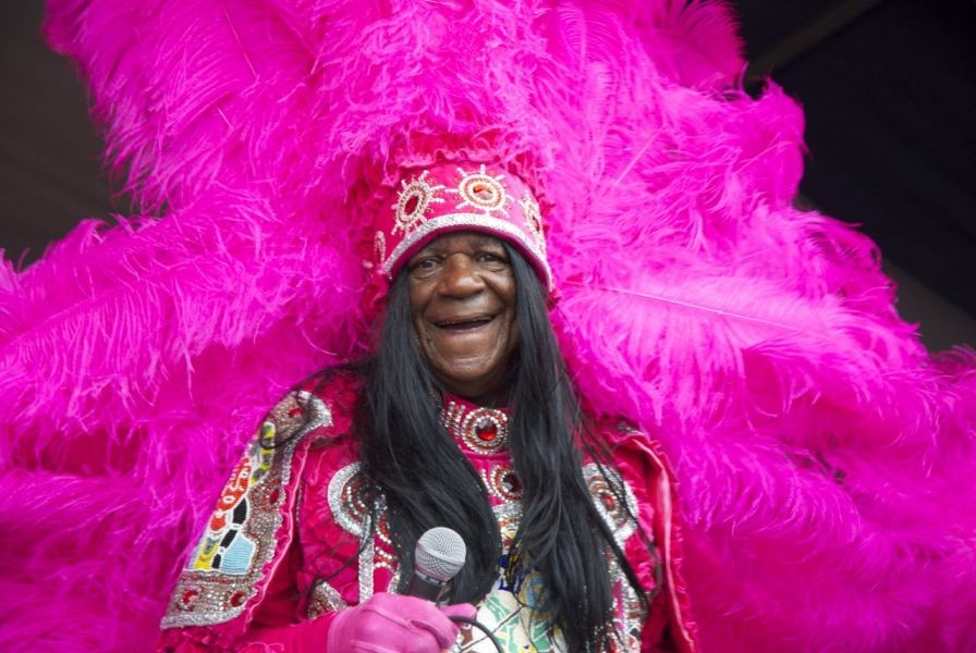 Big Chief Monk Boudreaux's spectacular spectacle at Jazz Fest