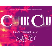 Culture Club plus Special Guest Alison Moyet tickets at The O2 in London