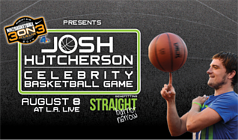 Josh Hutcherson Celebrity Basketball Game tickets at Nokia Plaza L.A. LIVE in Los Angeles
