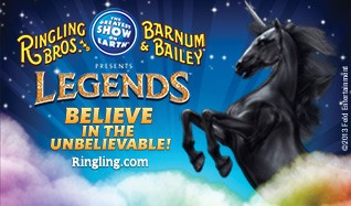 "Ringling Bros. and Barnum & Bailey Circus ""Legends"" tickets at Valley View Casino Center in San Diego"
