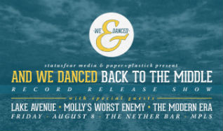 "And We Danced ""Back To The Middle"" Record Release Show in The Nether Bar tickets at Mill City Nights in Minneapolis"