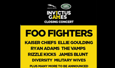 Invictus Games Closing Concert tickets at South Events Lawn in London