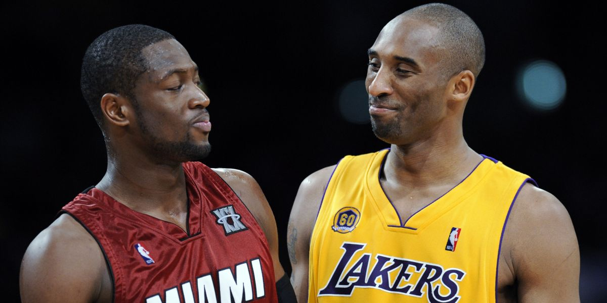 Dwyane Wade calls Kobe Bryant the 'second best' player in NBA history