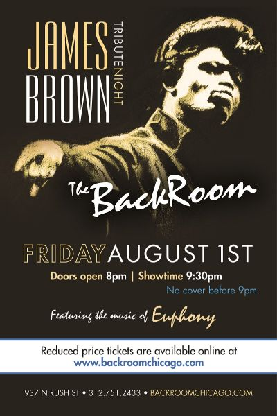 James Brown Tribute Night at The Back Room, Aug. 1
