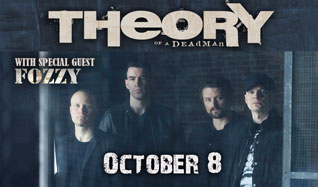 Theory Of A Deadman tickets at Starland Ballroom in Sayreville
