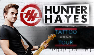 Hunter Hayes tickets at The Ryan Center in Kingston