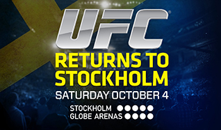 UFC tickets at Ericsson Globe in Stockholm