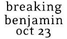 Breaking Benjamin Unplugged tickets at Starland Ballroom in Sayreville