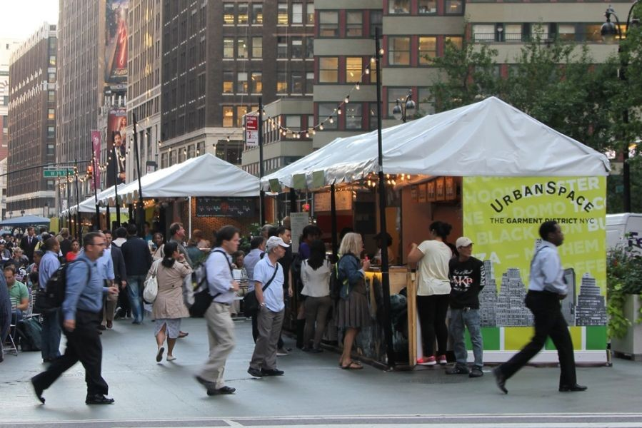 UrbanSpace Garment District brings great new lunch options to Midtown Manhattan