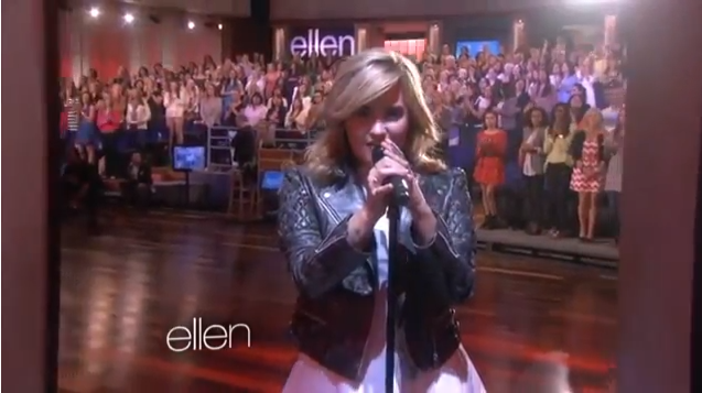Demi lovato performs 39 heart attack 39 live on 39 the ellen degeneres show 39 axs - Ellen show live ...