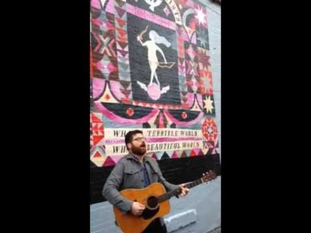 Colin Meloy busks in Brooklyn to announce new Decemberists album