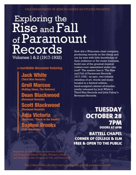 Jack White to speak at Yale about Paramount Records