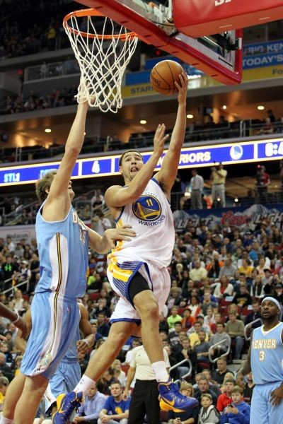 Klay Thompson burns Nuggs for 35 points in 119-112 loss to Golden State