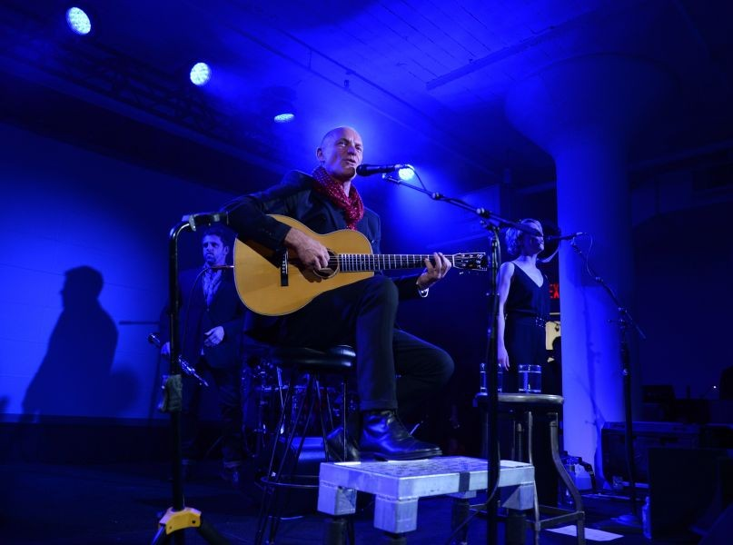 Sting performs at the Battersea Power Station Global Tour launch event in NYC