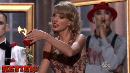 Taylor Swift debuts fiery 'Blank Space' performance on AMAs