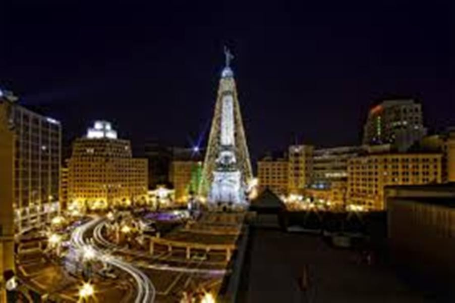 indianapolis circle of lights tree lighting axs