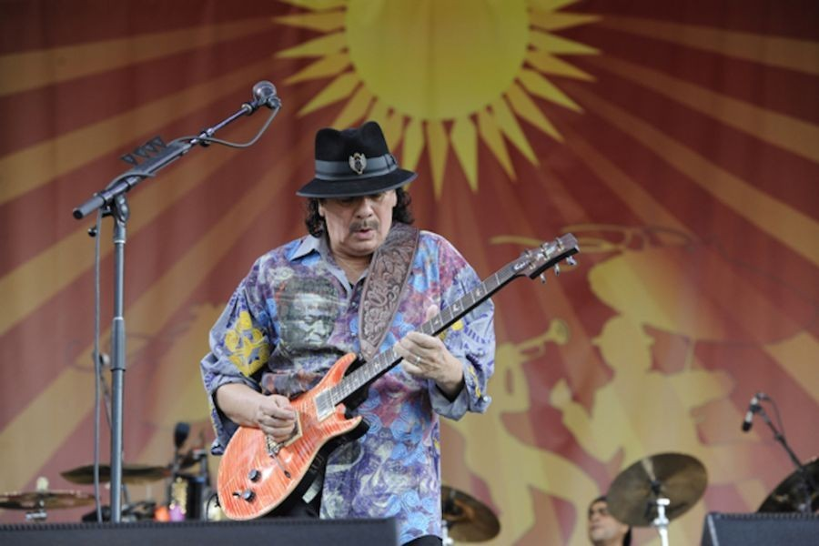 Top Live Performances of 2014, Carlos Santana, New Orleans Jazz Fest