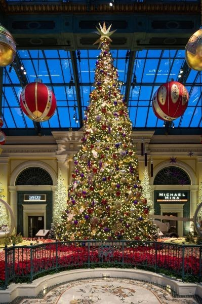 Bellagio welcomes guests to visit and share at the Conservatory this holiday
