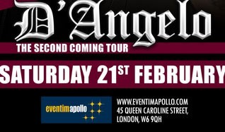 D'Angelo - EXTRA DATE ADDED tickets at Eventim Apollo in London