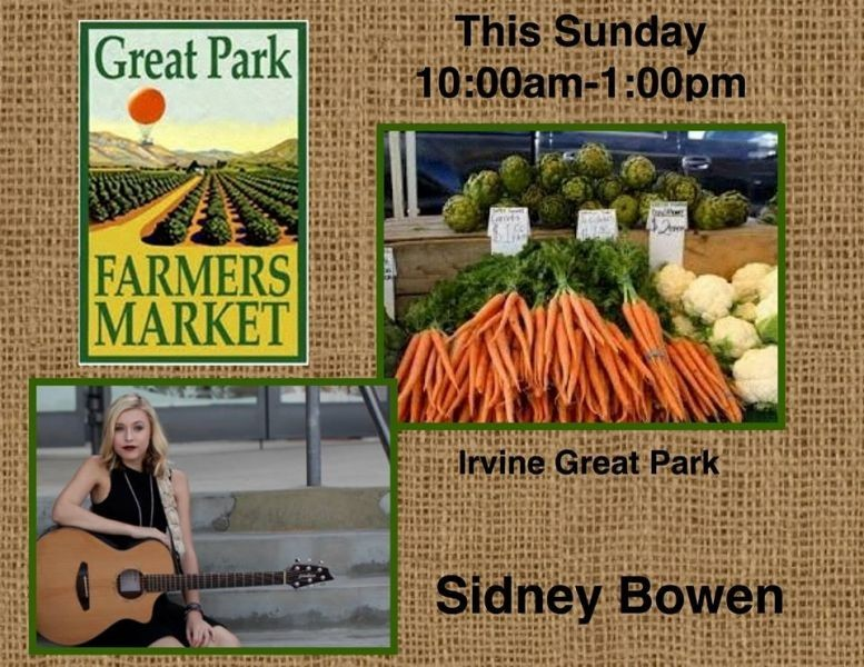 Sidney Bowen performing at the Great Park Farmer's Market Sunday, December 21