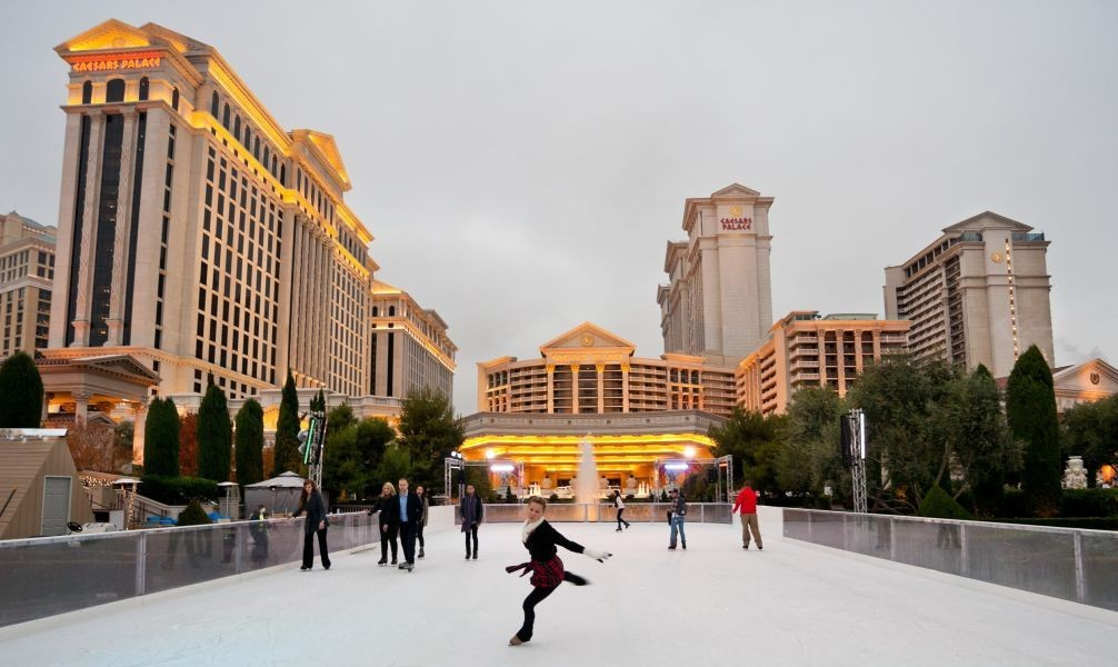 Caesars adds ice skating and tubing to the holiday entertainment lineup