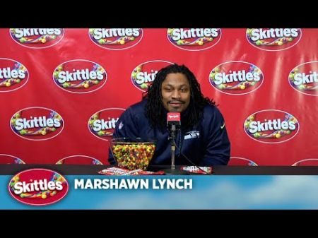 Marshawn Lynch is colorfully candid in Skittles press conference