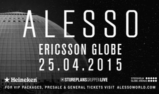 ALESSO tickets at Ericsson Globe in Stockholm