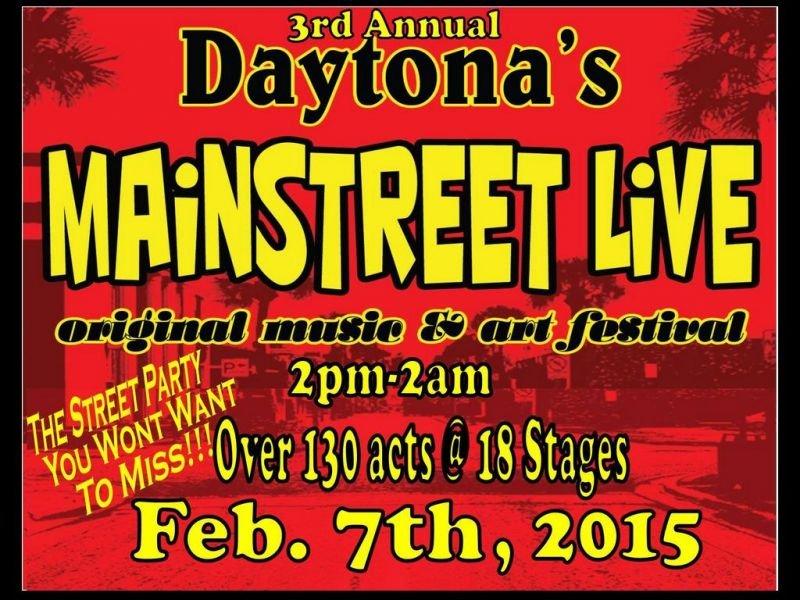 Daytona's MainStreet Live original music and art festival