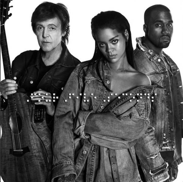 Rihanna turns down with Paul McCartney and Kanye West on 'FourFiveSeconds'