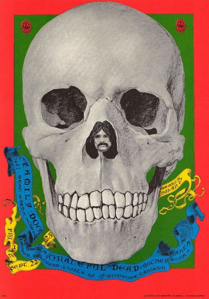 Rock posters from 1967 on display at the Byers-Evans House Gallery