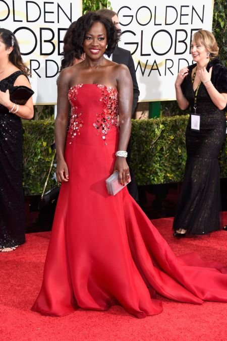 The classic beauty of Viola Davis needs no other bells and whistles to be best dressed - but the 49-year-old stunner made her red carpet loo