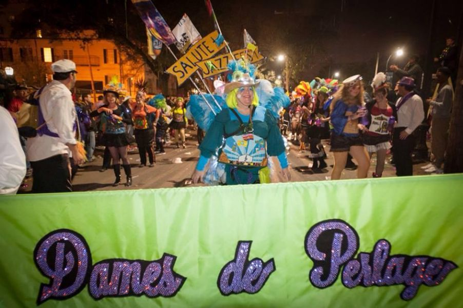 It's carnival time for New Orleans' Dames de Perlage