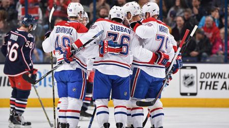 Canadiens dominate Blue Jackets with road experience