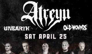 Atreyu tickets at Starland Ballroom in Sayreville