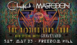 Clutch and Mastodon tickets at Freedom Hill Amphitheatre in Sterling Heights