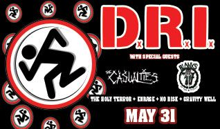 D.R.I. tickets at Starland Ballroom in Sayreville