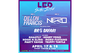 Dillon Francis, Nero (DJ Set) plus special guest Bro Safari tickets at Event Center at San Jose State University in San Jose