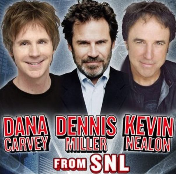 'SNL' alumni Dana Carvey, Kevin Nealon and Dennis Miller live at the Tacoma Dome