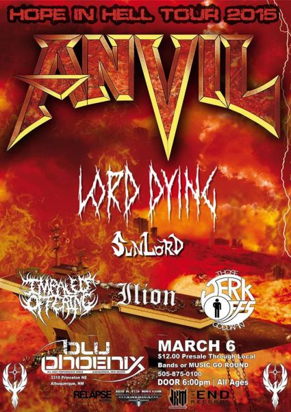 The 'Hope in Hell' Tour 2015 comes to Albuquerque's Blu Phoenix