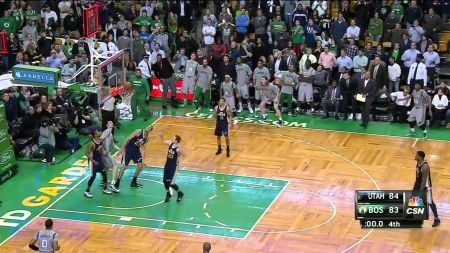 Tyler Zeller's buzzer shot at the Boston helps Celtics edge Jazz, 85-84
