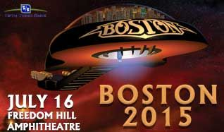 Boston tickets at Freedom Hill Amphitheatre in Sterling Heights