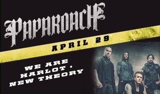 Papa Roach tickets at Starland Ballroom in Sayreville