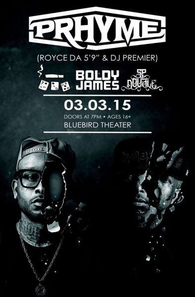 PRhyme, Old Droog, Boldy James, and SP Double at Bluebird Theater