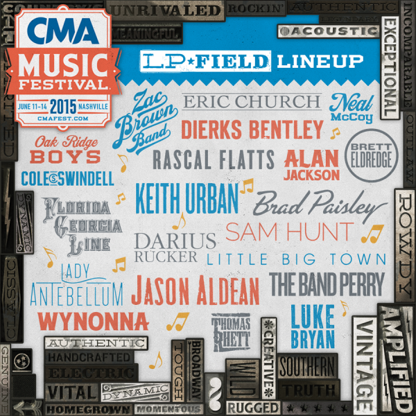 2015 CMA Music Festival lineup announced