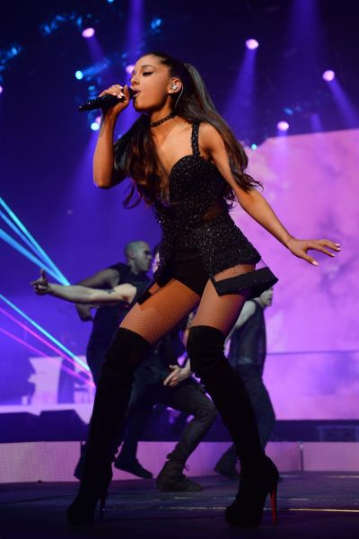 Ariana Grande performs at Allstate Arena in Rosemont ...